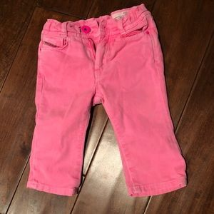 Diesel Infant Girl's Hot Pink Jeans Size 6 mos